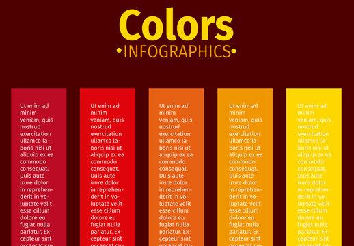 Warm Tone Vertical Ribbon Tab Infographic 2