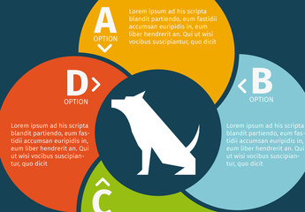 Circle Element Dog Silhouette Illustration Pet Care Infographic