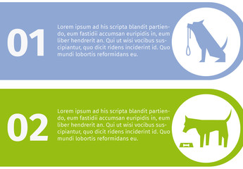 3 Tab Dog and Pet Care Infographic