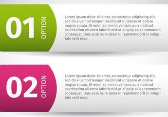 Mulitpurpose Numbered Tab Infographic 2