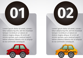 Transportation Data Infographic with Car and Truck Icons 2