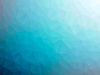 Blue white gradient polygon shaped background