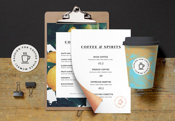 Coffee Shop Branding Mockup
