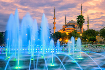 Blue Sultanahmet mosque, Istanbul old town, Turkey
