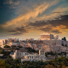 Printed kitchen splashbacks Athens Parthenon, Athenian Acropolis, Athens, Greece