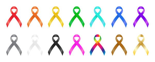 a colorful awareness ribbons