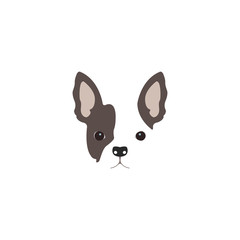 French Bulldog head. Logo dog.