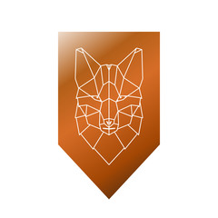 Fox geometric head sign. Vector illustration.