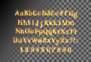 Fire flame font
