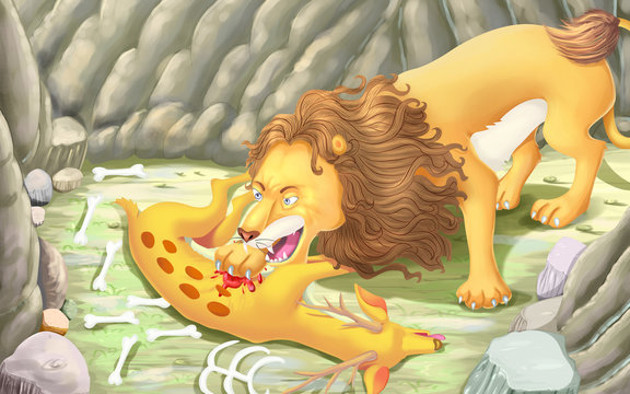 Lion and clever horse story for kids (8+9)