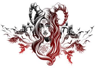 a demon girl