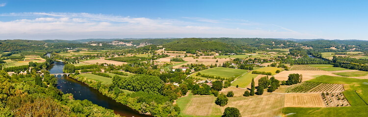 Panoramo from Domme, Dordogne-Perigord, France
