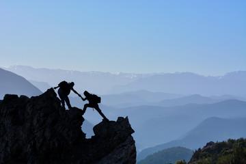 Zirve tırmanış mücadele ve başarısı