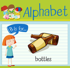 Flashcard alphabet B is for bottles