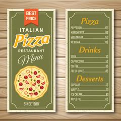 Italian Pizza Restaurant Menu