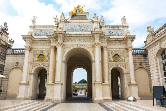 Nancy Triumphal arch, Arc Héré, Place Stanislas, Lorraine, France, Europe