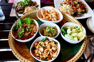 Khan tok or Khantoke dinners are a northern tradition thailand