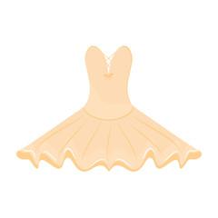 Orange ballet dress