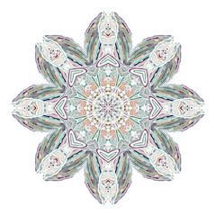 Beautiful Indian floral ornament. Ethnic Mandala. Henna tattoo style. hand drawn design