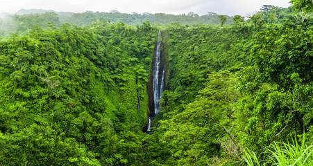Vibrant Papapapaitai falls on Upolu island, Samoa