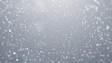 Winter Snow Star Christmas Background, Christmas Background. Abstract Bokeh Background.
