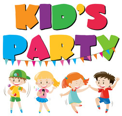 Many kids having fun at party