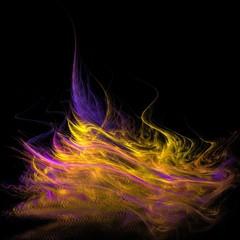 Dunkler fantasievoller Hintergrund - gelb-violett