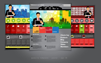 Modern Vector Website or Application  Template