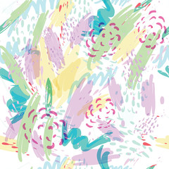 Abstract vector background with spots watercolor splashes in delicate pastel colors