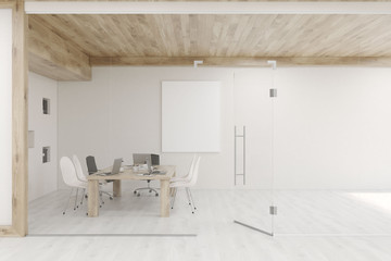 Conference room with glass walls and doors