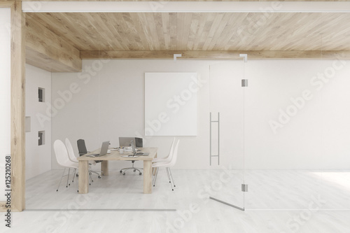 Conference Room With Glass Walls And Doors Stock Photo And Royalty