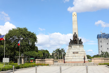 Monument in memory of Jose Rizal, national hero in Manila, Philippines