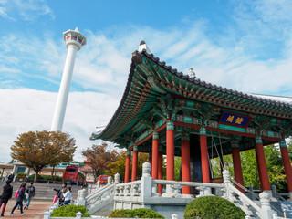Yongdusan Park in Busan City, South Korea