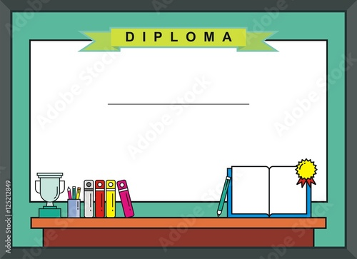 "Blank Kid Diploma - Certificate Background"" Stock image and royalty ..."