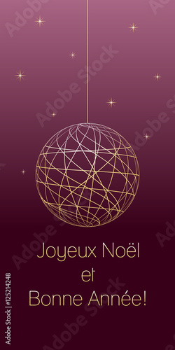French christmas and new year greeting card with french text on dark french christmas and new year greeting card with french text on dark pink background very m4hsunfo