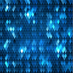 Abstract blue triangles pattern geometric background - eps10 vector