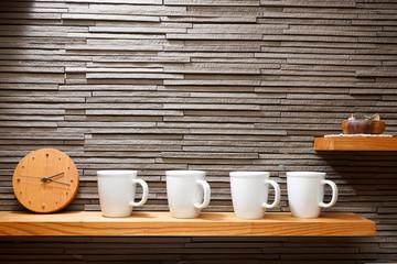 coffee cup on the shelf