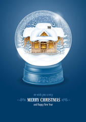 Snow Globe with House