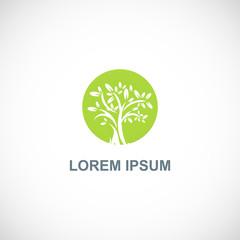 green tree icon vector logo