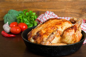 baked chicken,Style rustic.