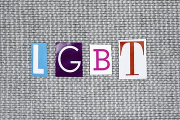 LGBT acronym cut from newspaper