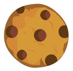 Vector Chocolate Chip Cookie