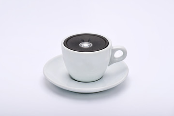 Speaker in the cup of tea