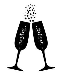 vector champagne glasses