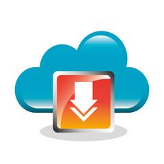 download digital data icons vector illustration design