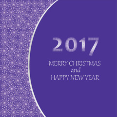 Merry Christmas and happy New year 2017.  Greeting card, banner, poster, leaflet.