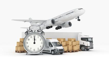 world wide cargo transport concept. 3d rendering