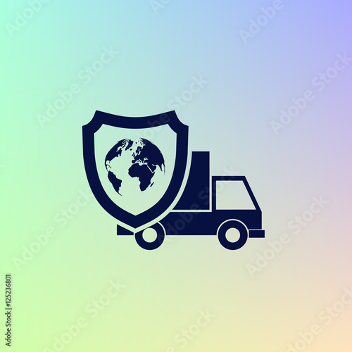 """""""Cargo insurance icon"""" Stock image and royalty-free vector ..."""