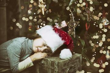 Weihnachten Kind Schlafen