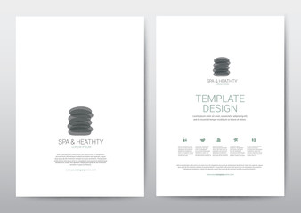 Spa Wellness Medical topic Template elements, Presentation, brochure